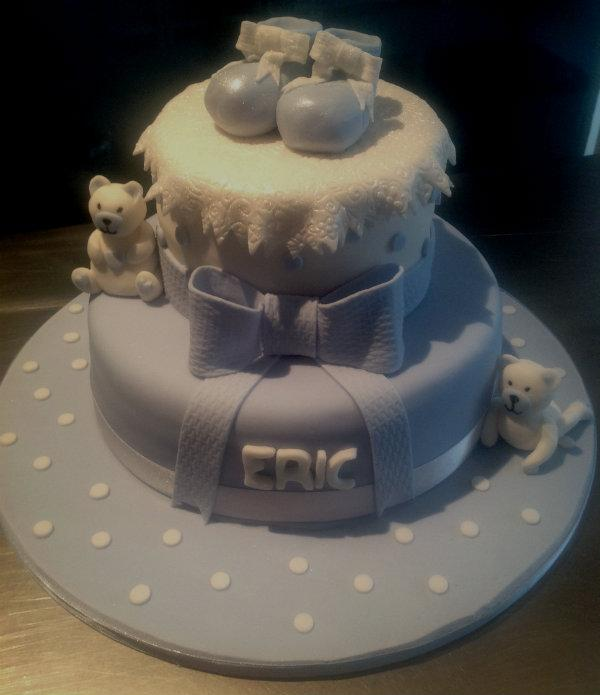 blue 2 tier christening